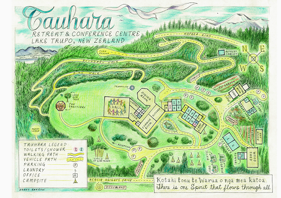 Map of Tauhara